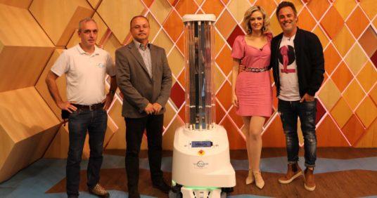 Az RTL Klub Reggeli című műsorában mutattuk be az UVD Robotot!